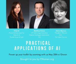 ITWomen-CAI Webinar on AI, May 28, 2020