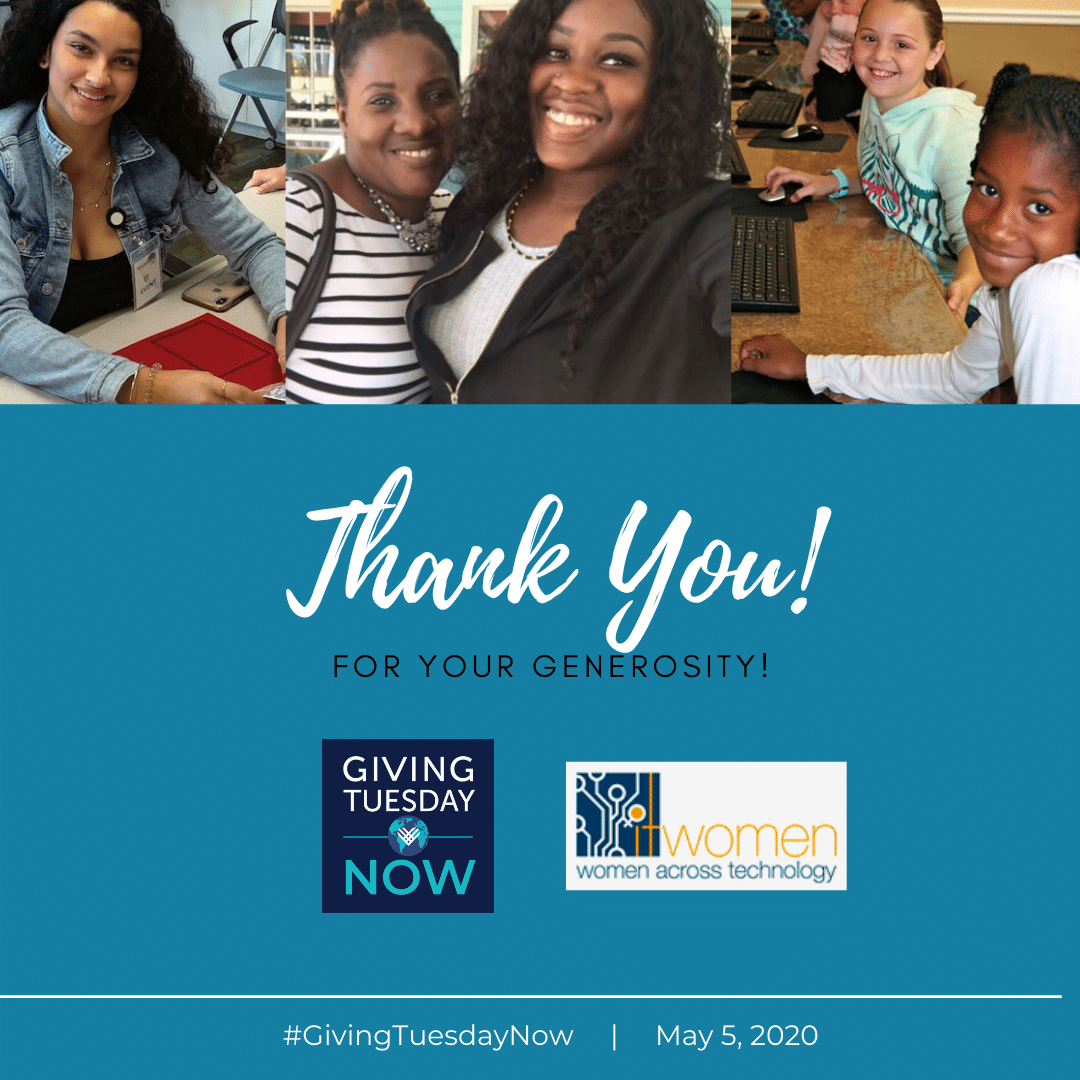 Thank You for contribution to ITWomen on #GivingTuesdayNow May 5 2020
