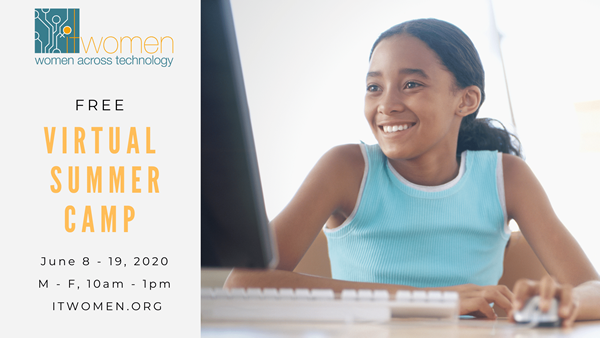 ITWomen 2020 virtual interactive summer tech camp,