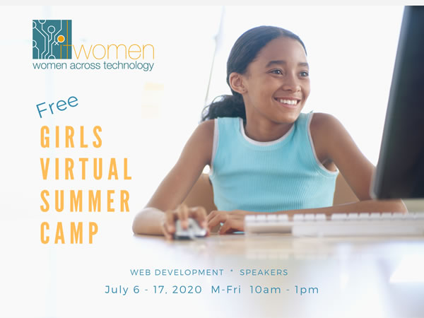 Announcement Free Girls Virtual Summer Camp July 6 - 17, 2020 M-F, 10 am - 1 pm